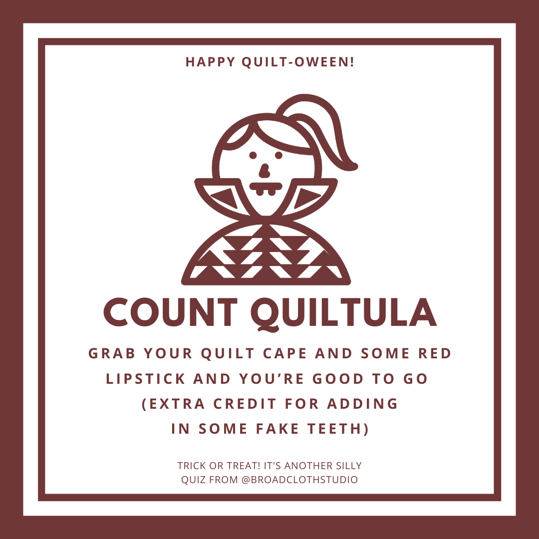 broadcloth studio quiltoween quiz count quiltula