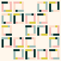 Feature Frames Quilt Pattern Random Blank Blocks