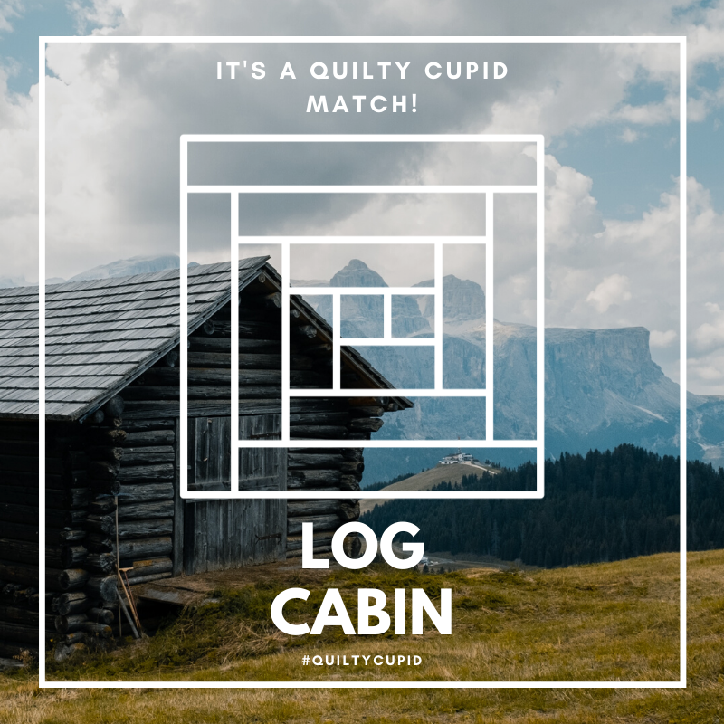 Quilty Cupid Log Cabin