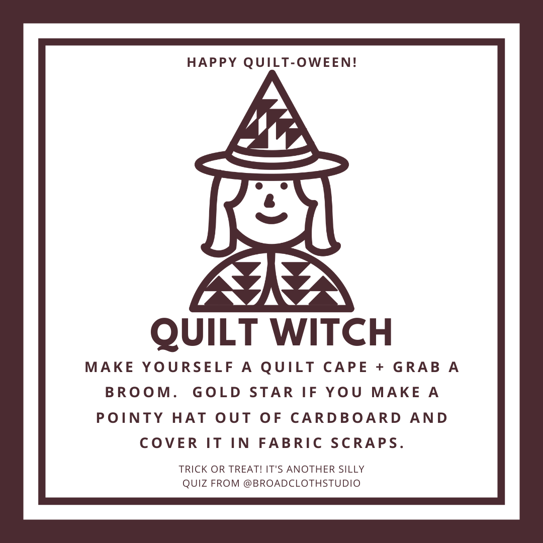 broadcloth studio quilt-oween quiz quilt witch