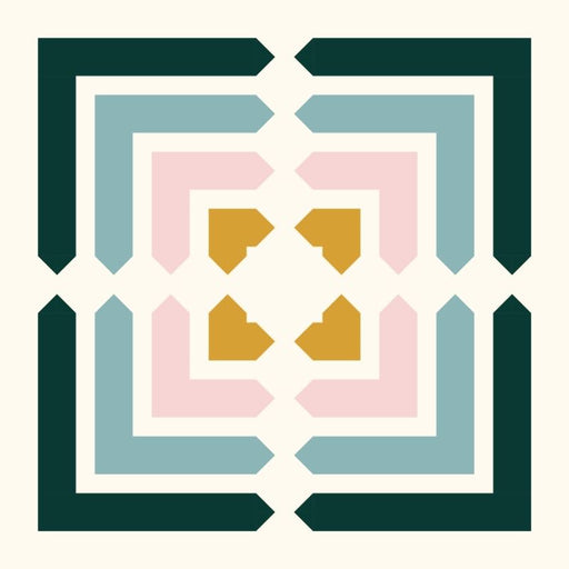 mod boxwood quilt pattern throw size