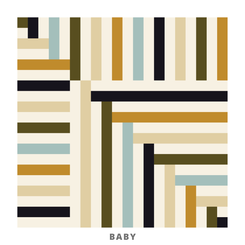 Broadcloth Studio Stripes and Ladders Modern Quilt Pattern Baby Size
