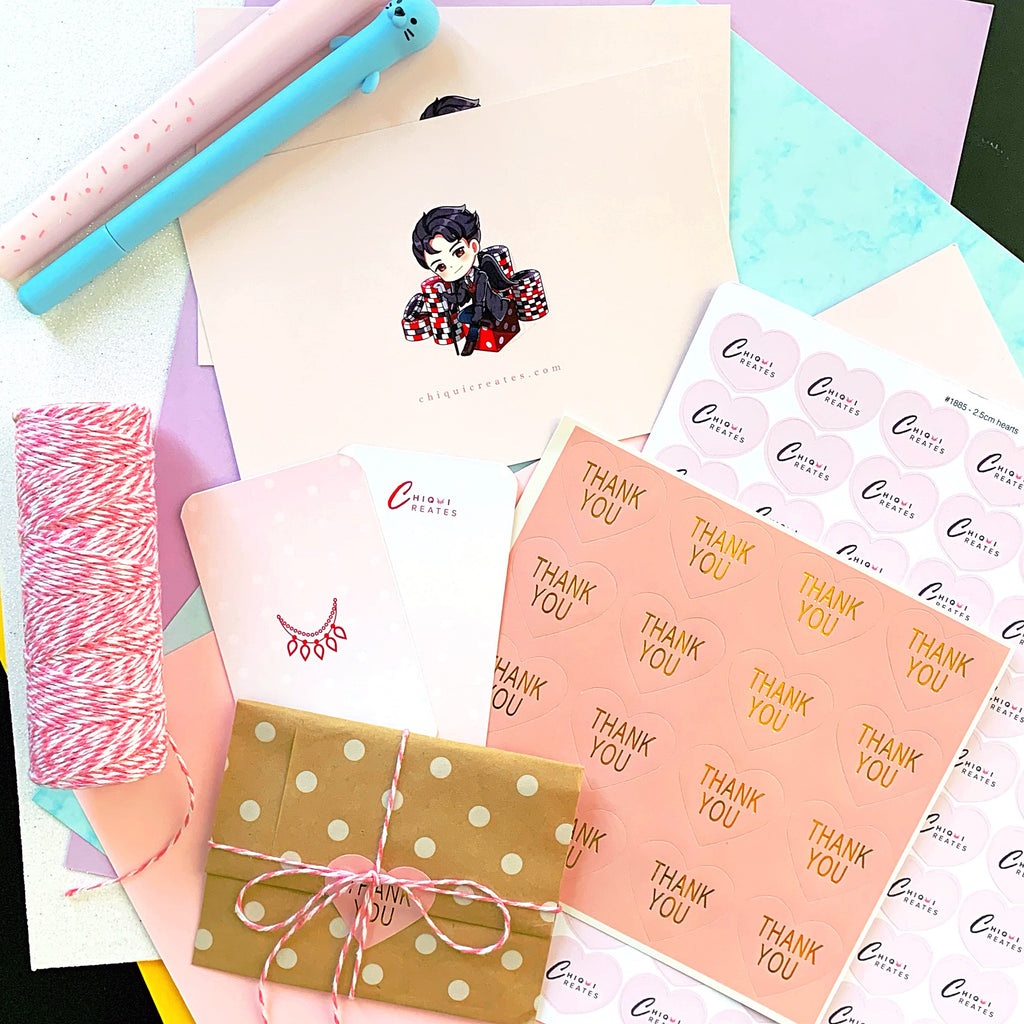 Chiqui Creates Cute Pastel Etsy Business Packaging