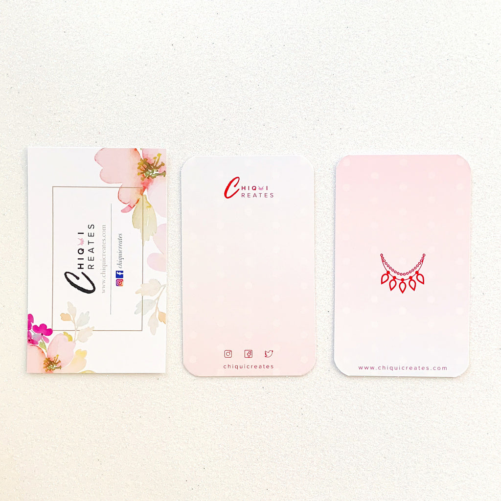 Chiqui Creates Business Cards Pastel