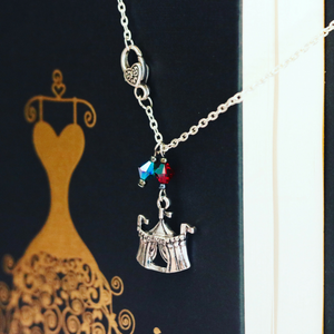 Caraval Circus Tent Silver Charm Necklace