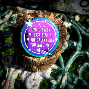Illuminae Files Rainbow Glow-in-the-Dark Enamel Pin