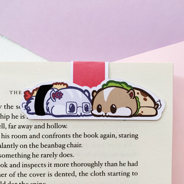 The Hamsters Love-Themed Magnetic Bookmarks