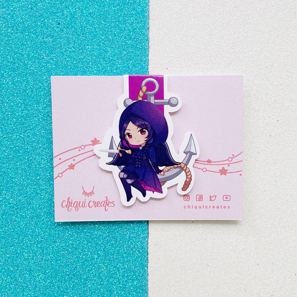 The Six Crows Cute Chibi Magnetic Bookmarks