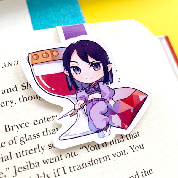 SEMI-GLOSS Maas Girls Cute Chibi Magnetic Bookmarks