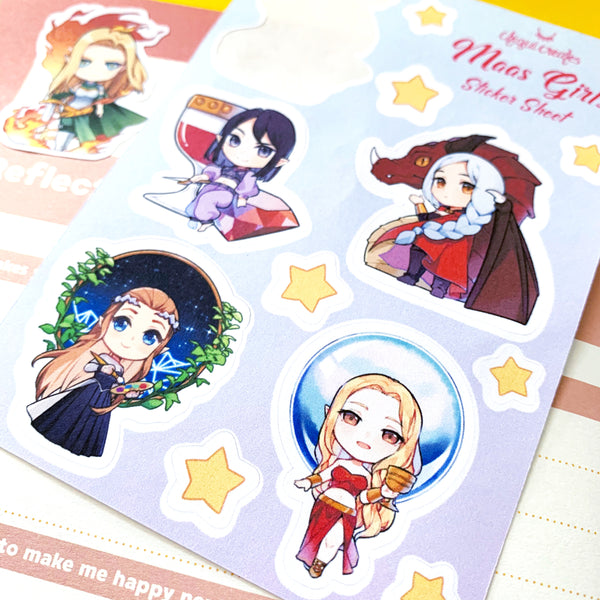 Maas Girls Cute Chibi Sticker Sheet
