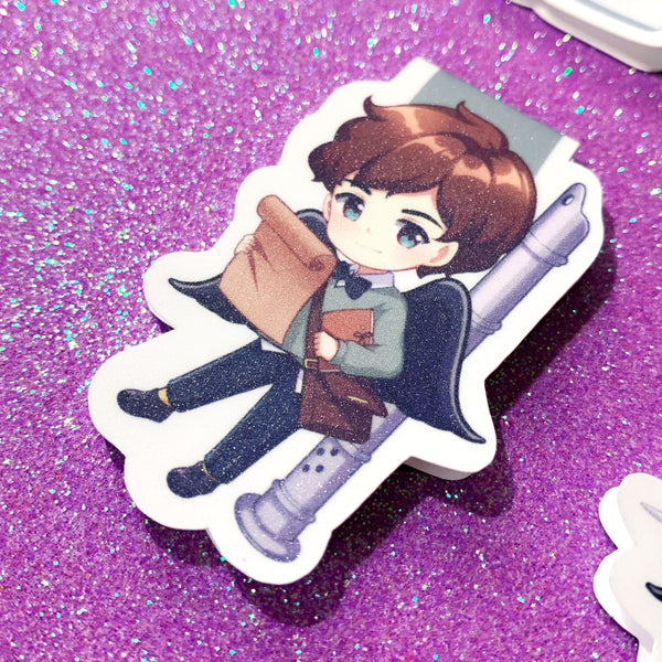 GLITTERS The Six Crows Cute Chibi Magnetic Bookmarks
