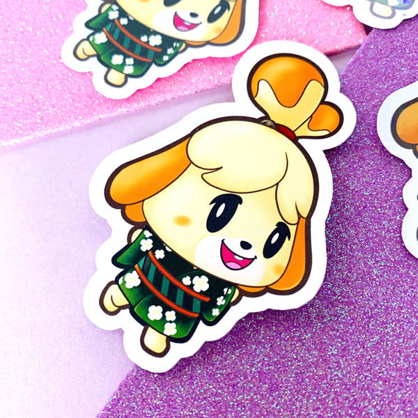 Animal Crossing in Kimonos Vinyl Stickers Diana Beau Marshal Isabelle