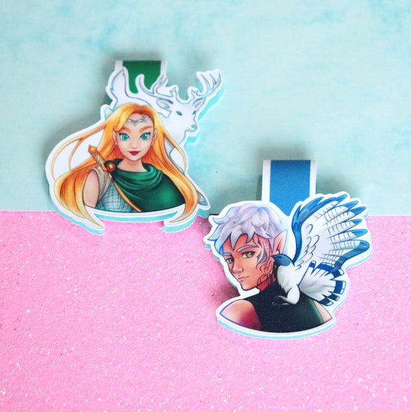 SEMI-GLOSS Rowan and Aelin Magnetic Bookmarks