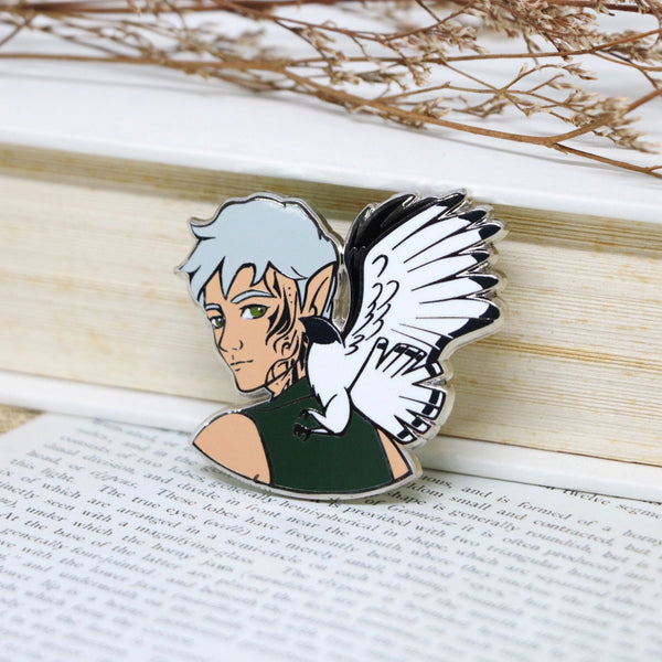 Rowan Whitethorn Throne of Glass Hard Enamel Pin (discount codes not applicable)
