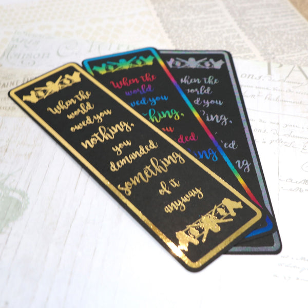 Six of Crows Foil Bookmarks