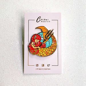 Princess Lira To Kill A Kingdom Glitter Enamel Pin