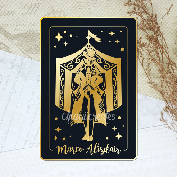PRE-ORDER: The Night Circus Marco Alisdair Hard Enamel Pin (discount codes not applicable)