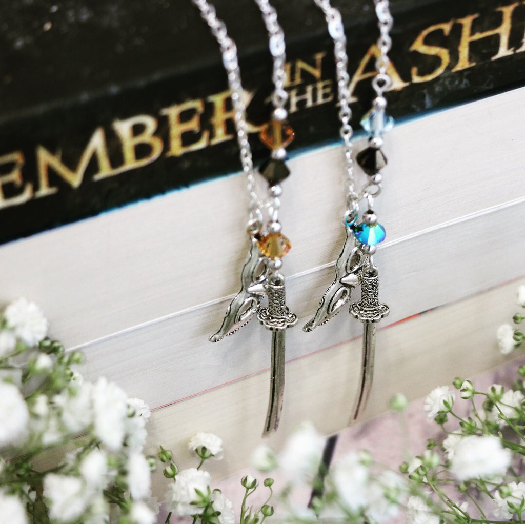 An Ember in the Ashes Necklace - Elias or Helene