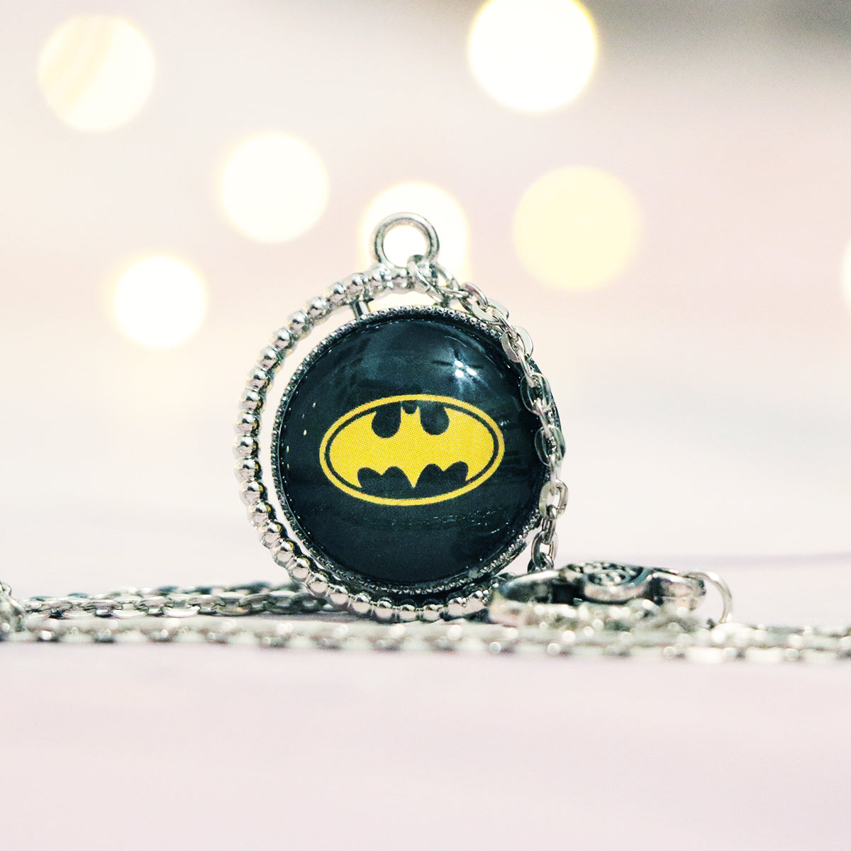 "Batman ""A hero can be anyone"" Double Sided Necklace"