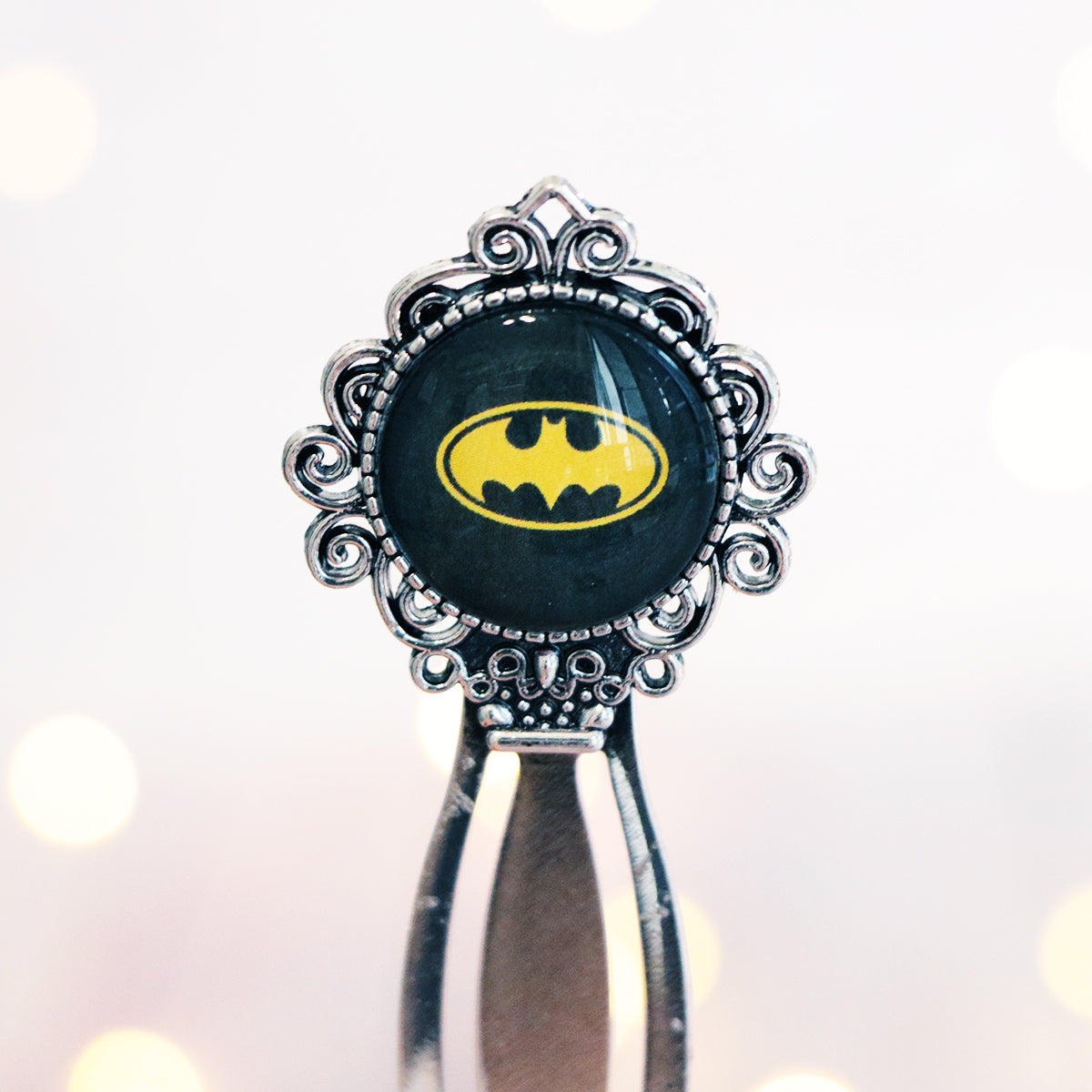 "Batman ""A hero can be anyone"" Metal Cabochon Bookmark"