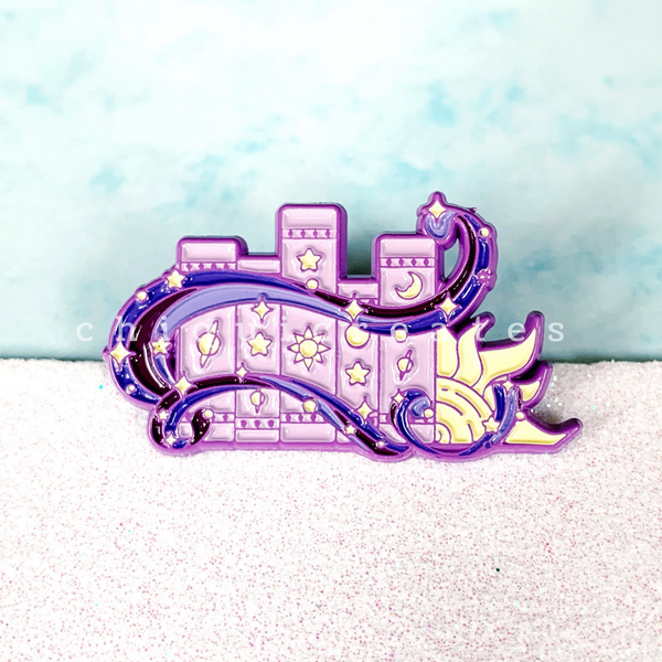 Celestial Bookish Pin - Book Spines - Purple Metal Soft Enamel