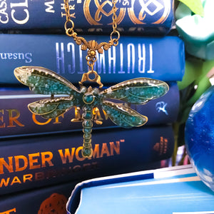 Strange the Dreamer Dragonfly Necklace