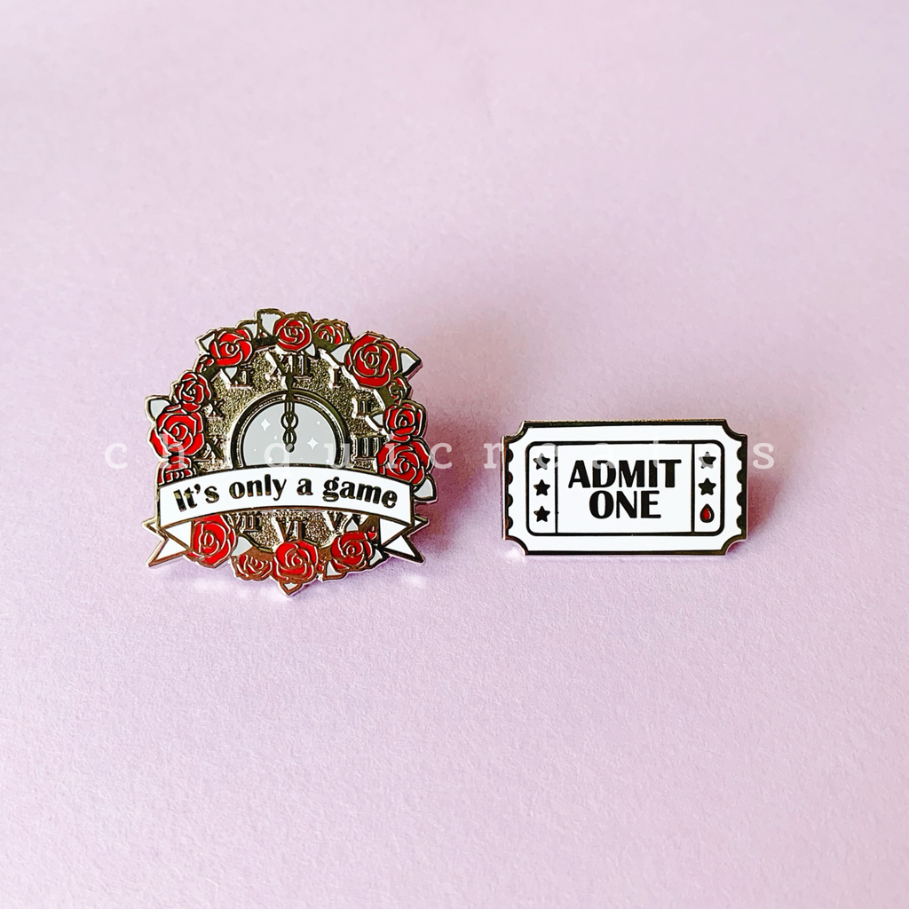 "Caraval Enamel Pins ""It's only a game"""