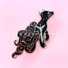 Mr. Kindly Black Cat Glitter Enamel Pin