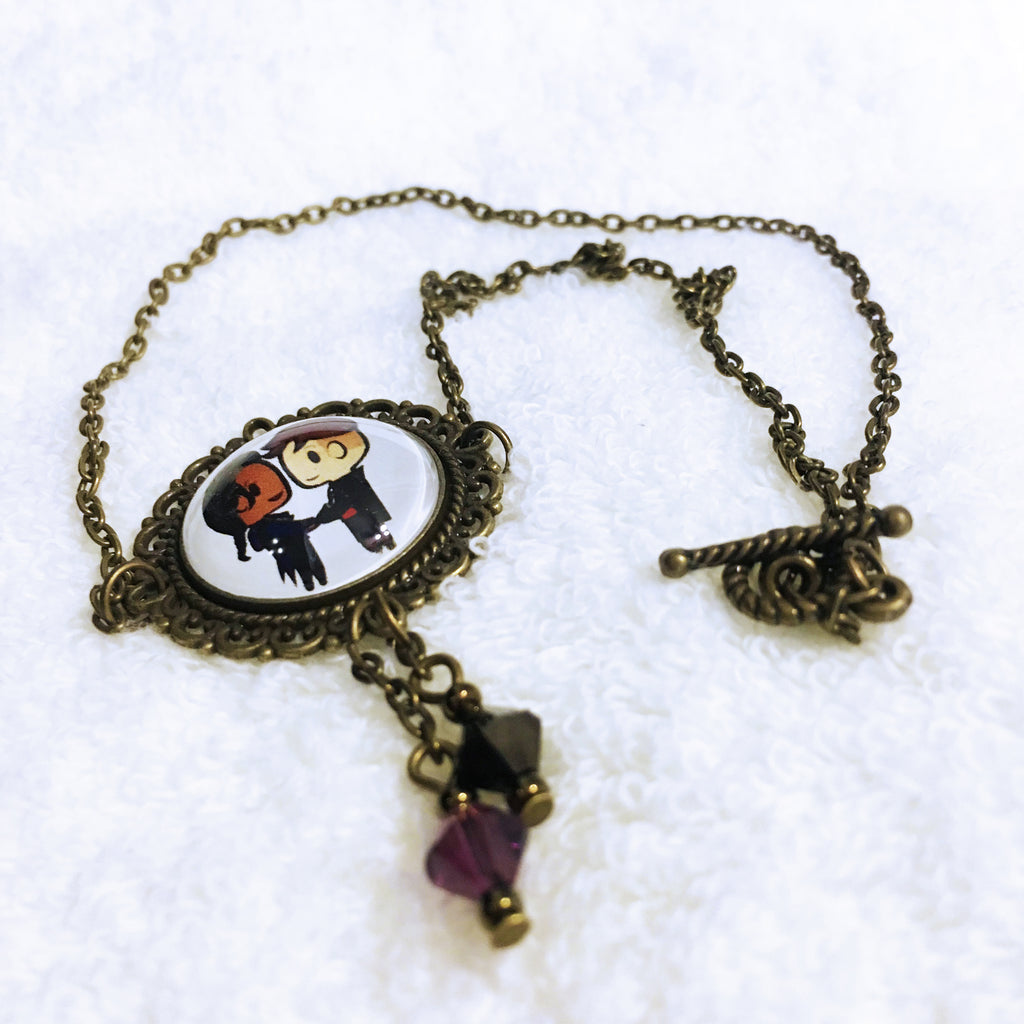 Six of Crows Kaz/Inej Portrait Necklace