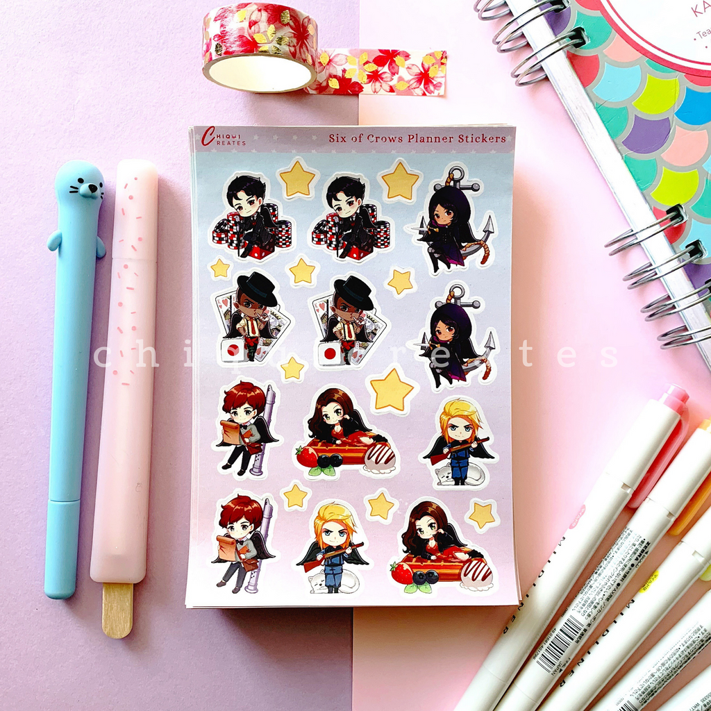 Six of Crows Sticker Sheet for Planners