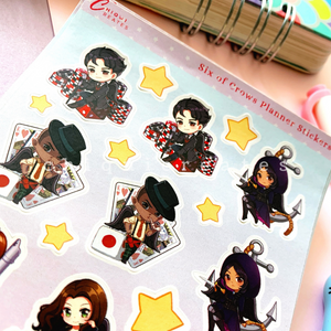 Six of Crows Sticker Sheet for Reading Journals / Planners