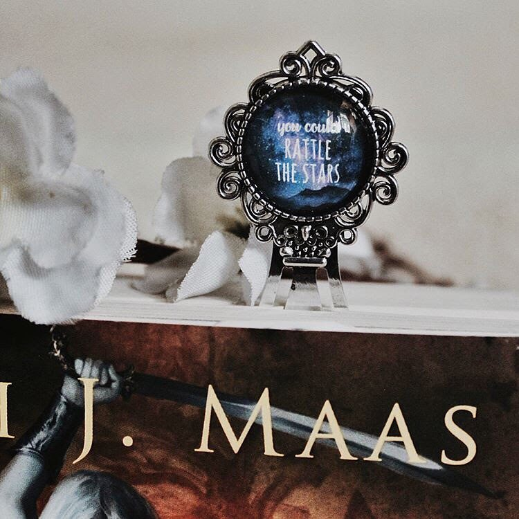 Throne of Glass Metal Cabochon Bookmark