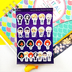 Aurora Rising Sticker Sheet for Reading Journals / Planners