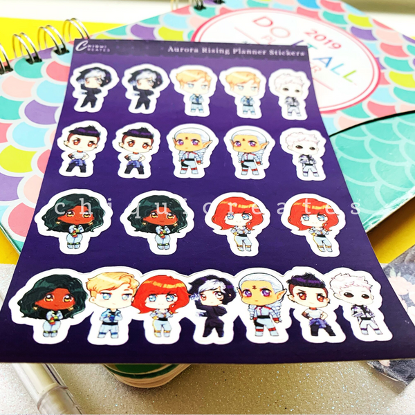 Misfits of the Galaxy Sticker Sheet for Reading Journals / Planners