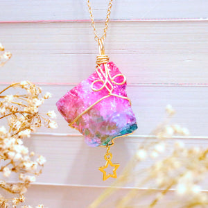The Lunar Chronicles Galaxy Rock Necklace