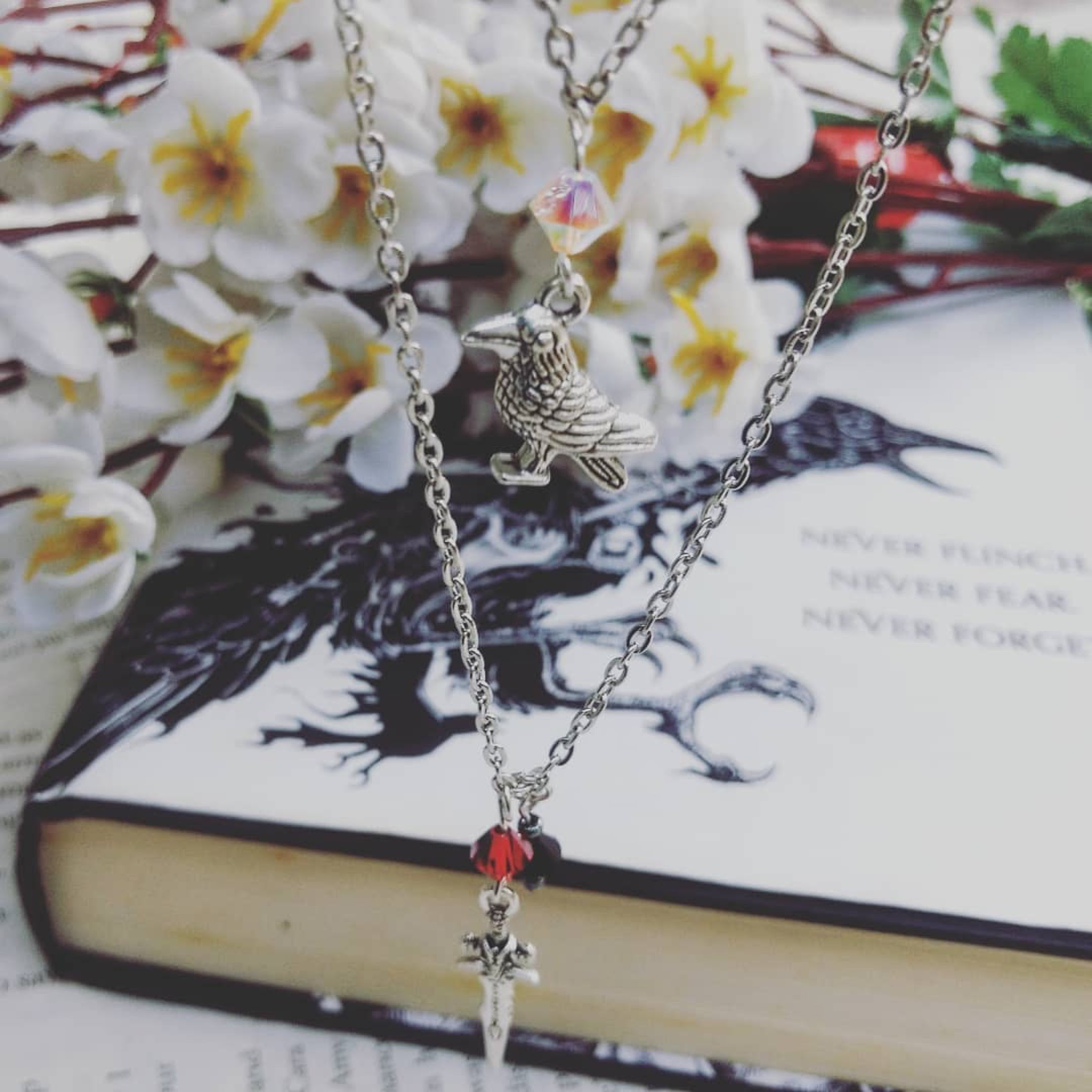 The Nevernight Chronicles Mia Corvere Little Crow Silver Necklace