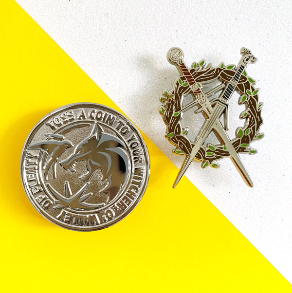 Toss A Penny to Your Hunter Hard Enamel Pins