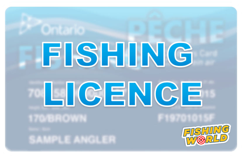 Get an Ontario Fishing Licence today at Fishing World in Hamilton, Ontario, Canada!