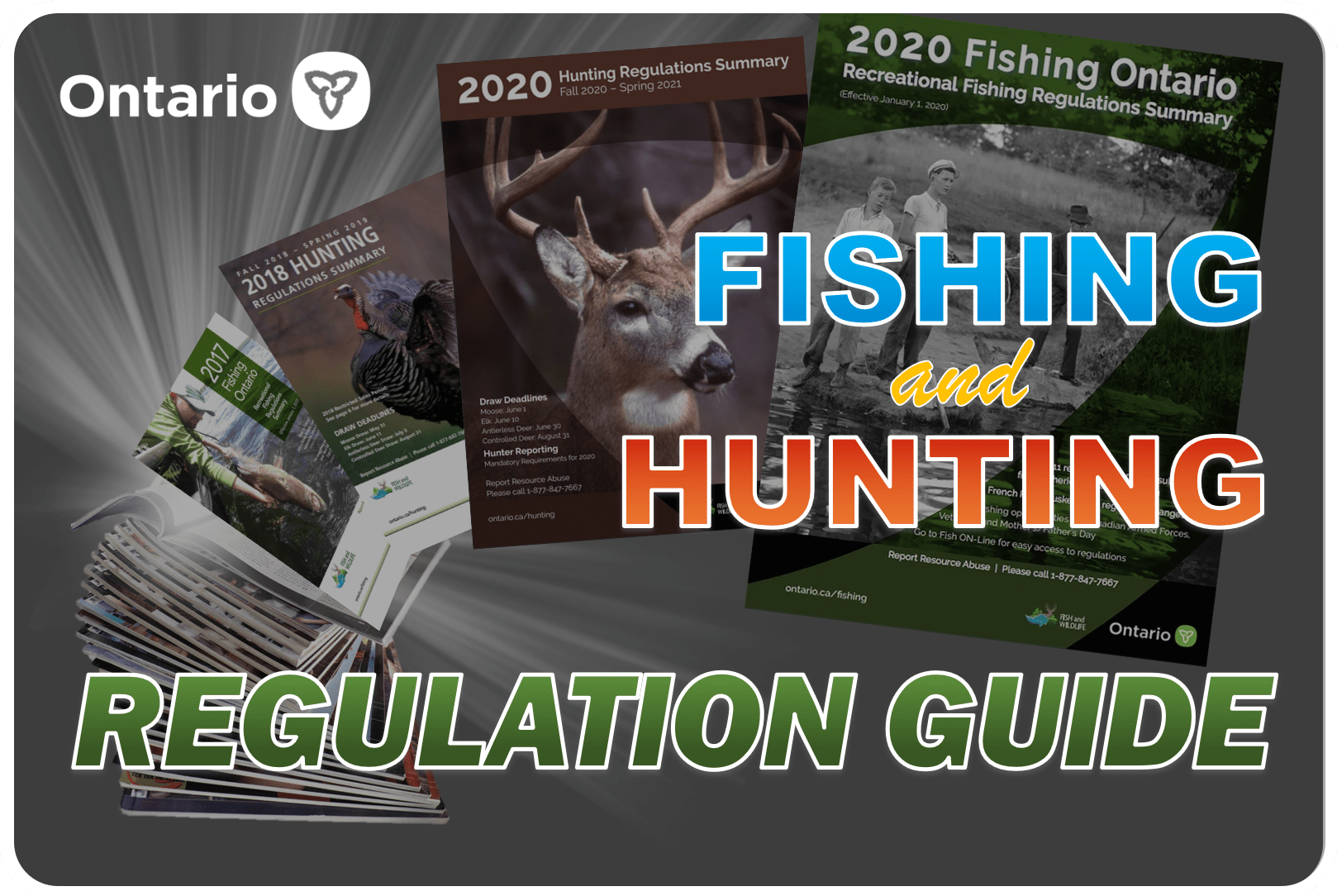 Here at Fishing World, we supply the annual Ontario Fishing Regulation Guide and the annual Ontario Hunting Regulation Guide in-store and online!