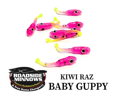 "ROADSIDE MINNOWS 1.15"" BABY GUPPY KIWI RAZ Roadside Minnows 1.15"" Baby Guppy"