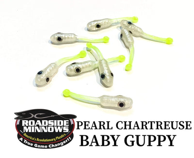 "ROADSIDE MINNOWS 1.15"" BABY GUPPY PEARL CHARTREUSE Roadside Minnows 1.15"" Baby Guppy"