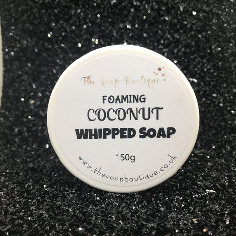 COCONUT SHOWER FLUFF WHIPPED SOAP - The Soap Boutique Uk