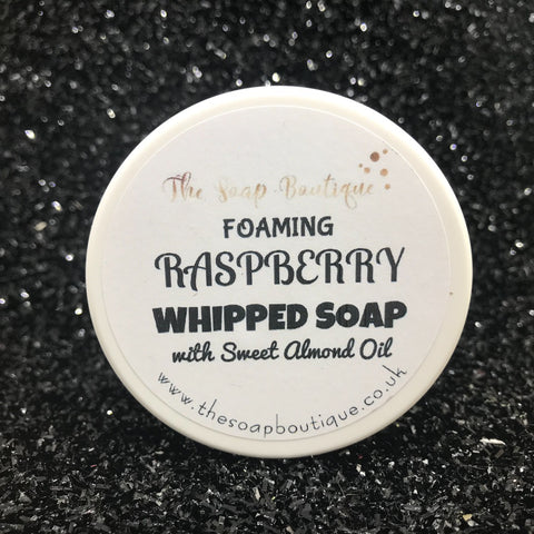 RASPBERRY SHOWER FLUFF WHIPPED SOAP - The Soap Boutique Uk