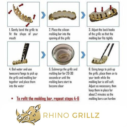grillz instructions, guide how to custom fit grillz