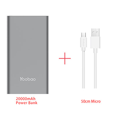 Yoobao A2 20000mAh Universal Power Bank Dual USB Output/Input Ultra Slim 14.5mm Li-Polymer Mobile Portable Battery Charger