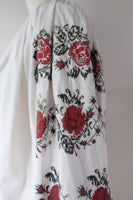 Vintage hand embroidered cotton Ukrainian folk dress