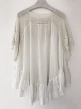 Cotton crochet blouse made from an antique Edwardian house dress.  One-of-a-kind sustainable fashion