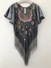 Grey Gardens Fringe Top
