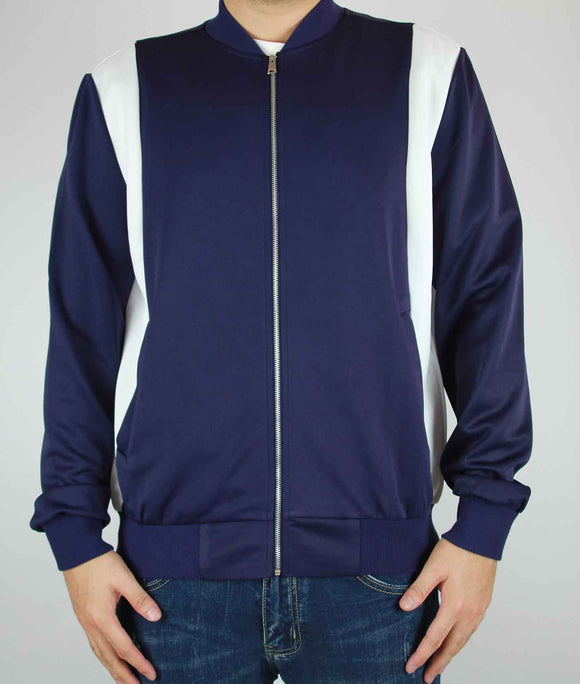 Dual Stripe Jacket (Navy) - RECOIL | Reinventing Your Style