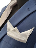 Classic Plain White Silk Pocket Square 010